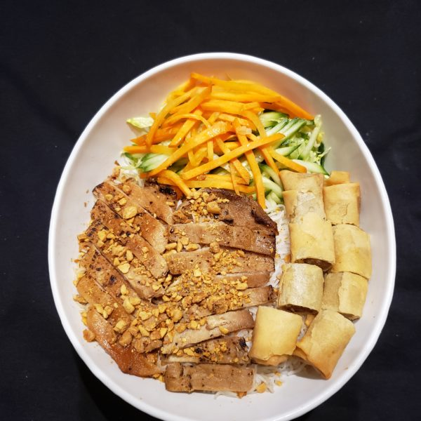 24. Vermicelli with Spring Rolls & Choice Meat