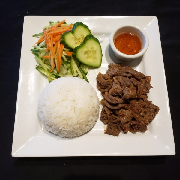 72. Satay Beef with Steamed Rice