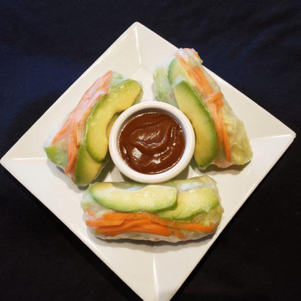 V1. Vegetarian Salad Rolls (3pc)