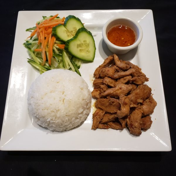 73.  Satay Chicken with Steamed Rice