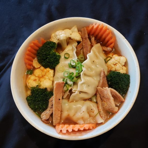 59. Satay  Pork  Dumpling Soup