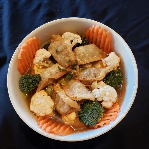 V61. Satay  Vegetable  Dumpling  Soup